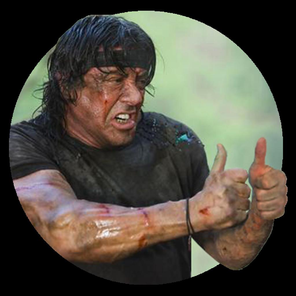 Rambo thinks you're OK!