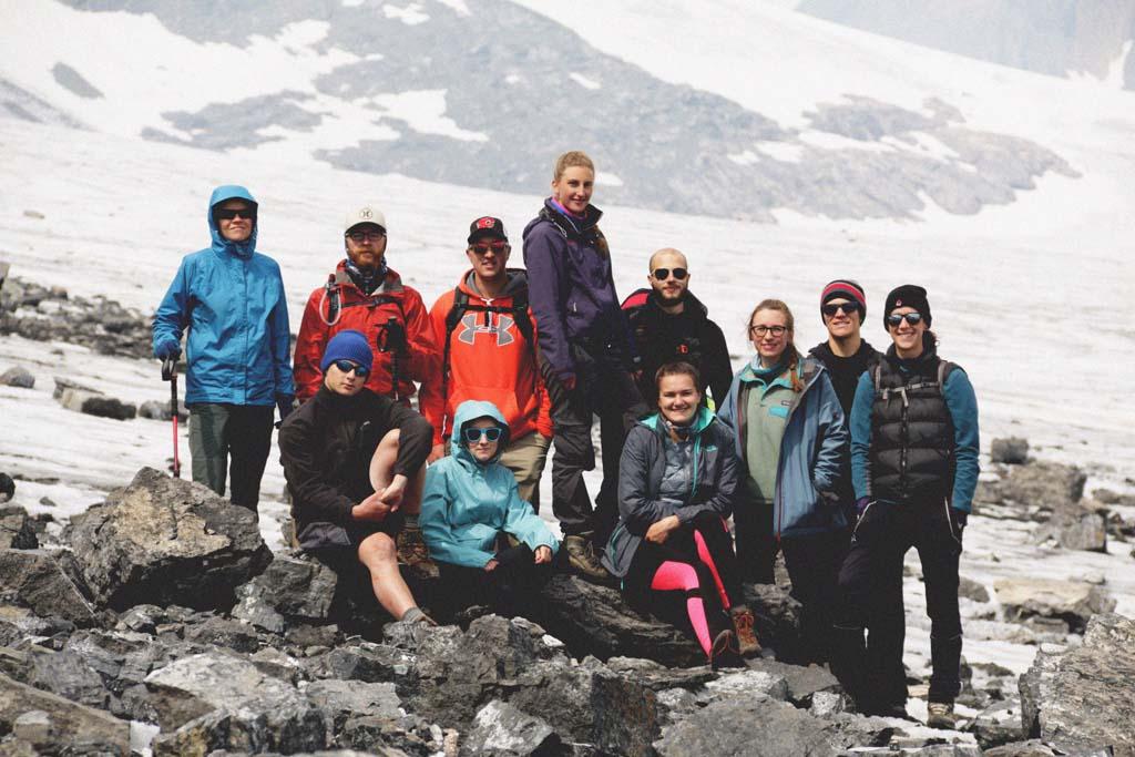 Hike on Haig Glacier