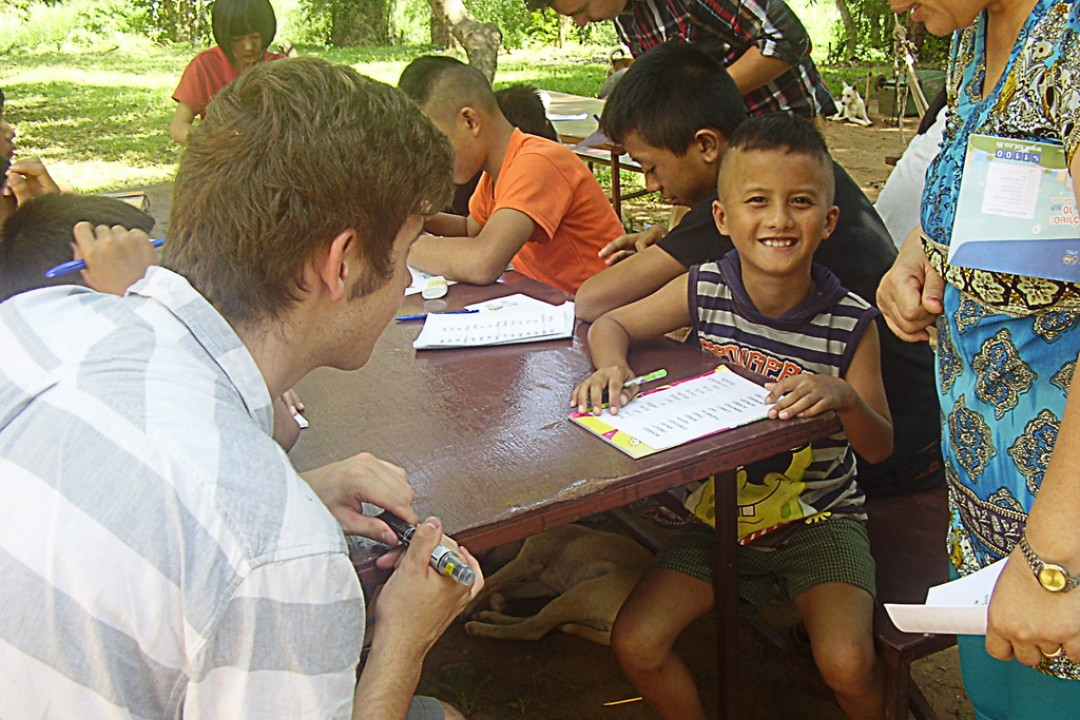 Working at a Shan Orphanage