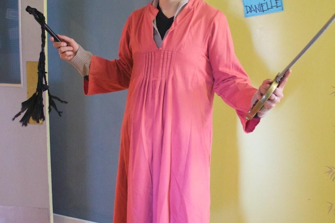 Randall loves dress up time