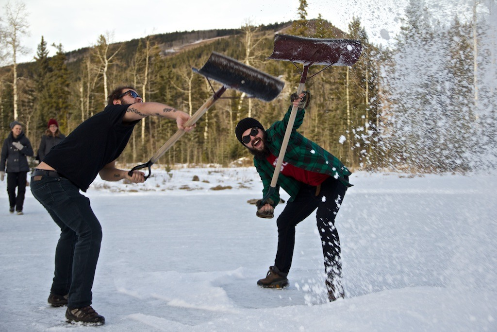 Cutting down the Christmas Tree Party