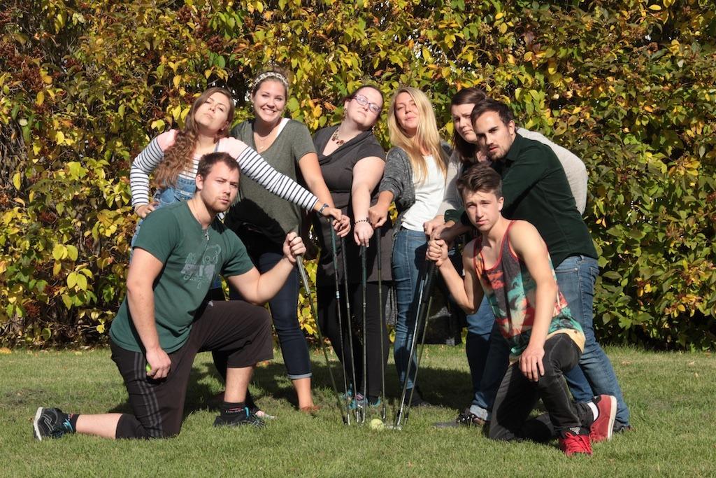 Campus golf!