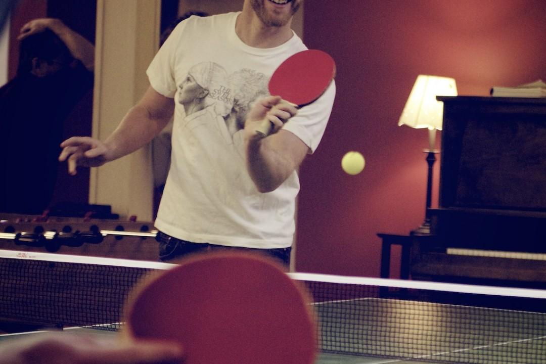 Ping pong at break time