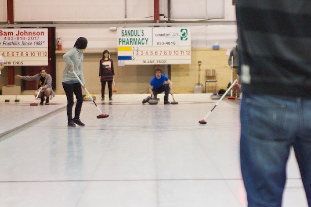 Curling in town